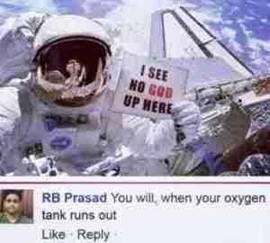 Epic Response to an Astronaut who said